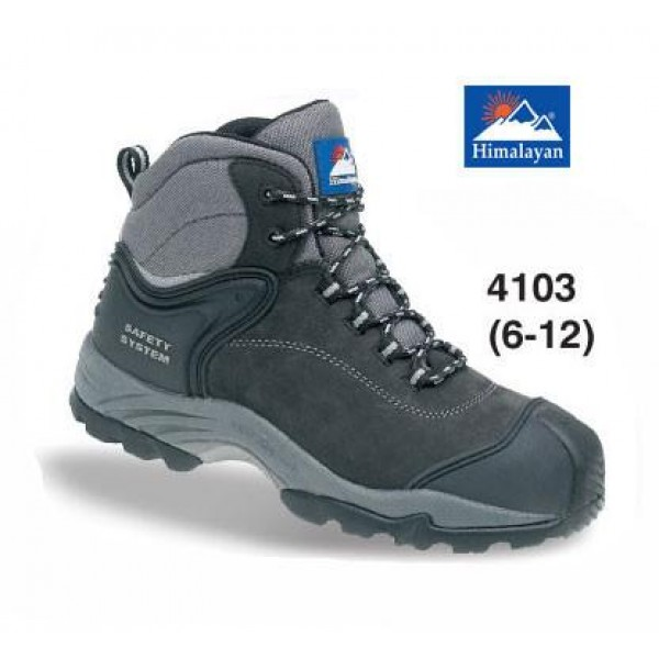 Himalayan Black Waterproof Nubuck Safety Boot