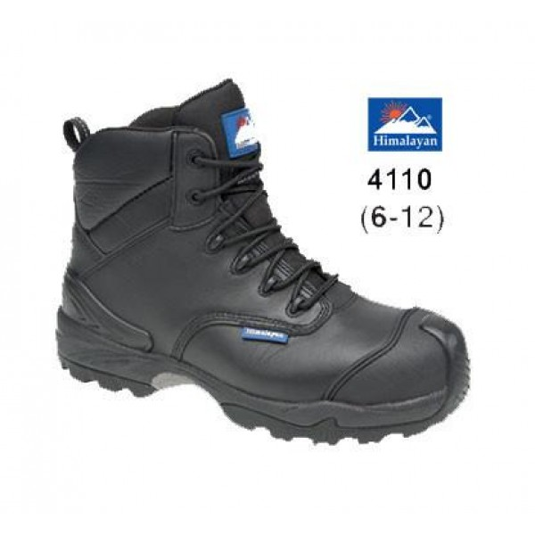 Himalayan Black Leather Waterproof Safety Boot