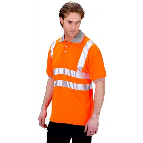 Hi Vis Short Sleeved Polo Shirt