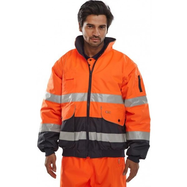 Hi Vis Fleece Lined 3 in 1 Bomber Jacket