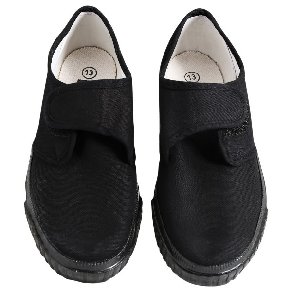 Black Plimsole Pumps