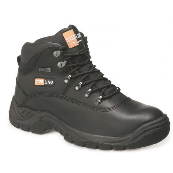 Black Leather Waterproof Hiker Boot