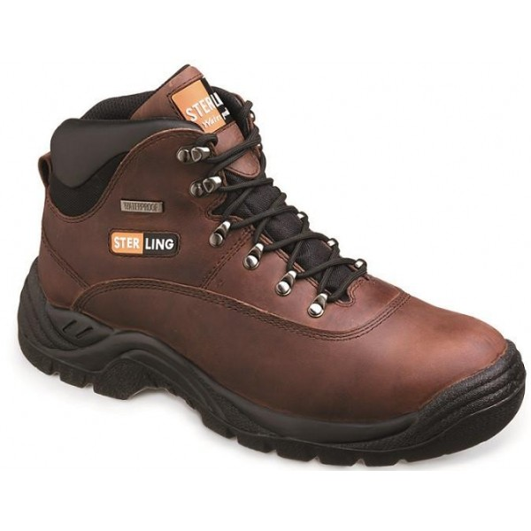 Brown Leather Waterproof Hiker Boot